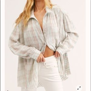 Free People Lela Plaid tunic